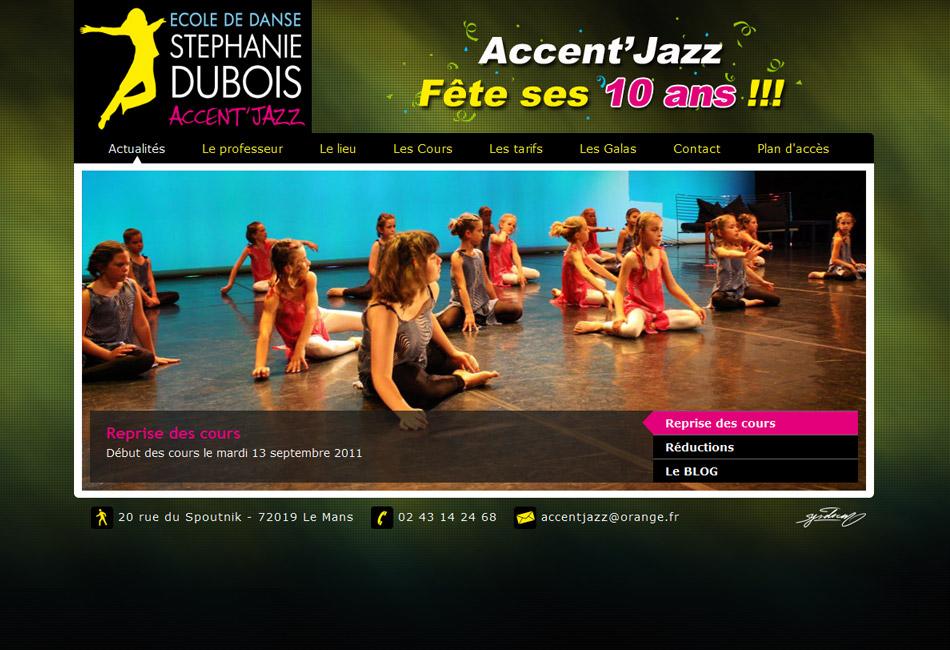 Site web vitrine ecole de danse