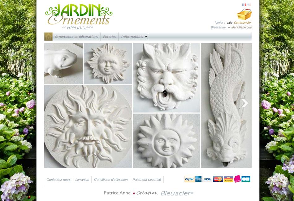 Site web catalogue prestashop Jardin Ornements