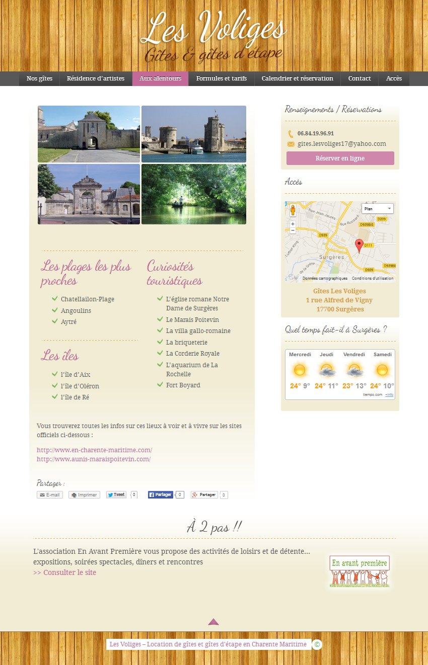 "Site web WordPress ""Les Voliges"""