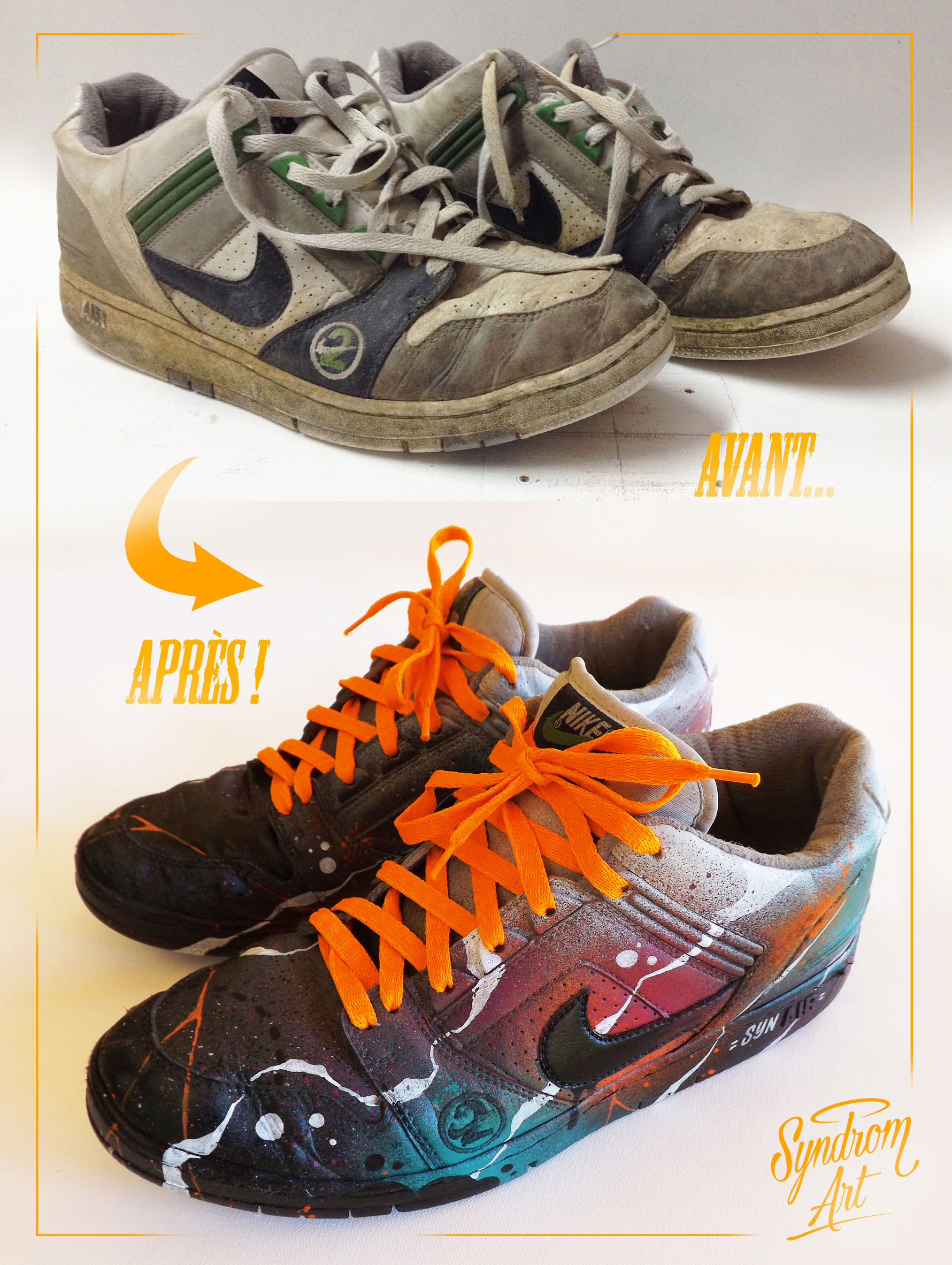 Customisation de basket Nike Air