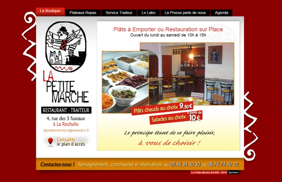 Site web - Restaurant / Traiteur