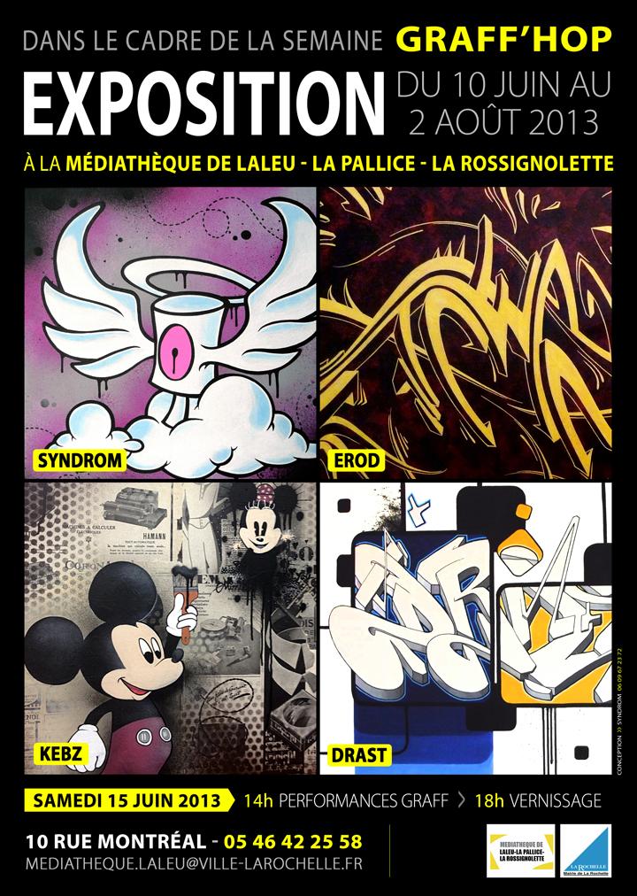 affiche exposition graff'hop
