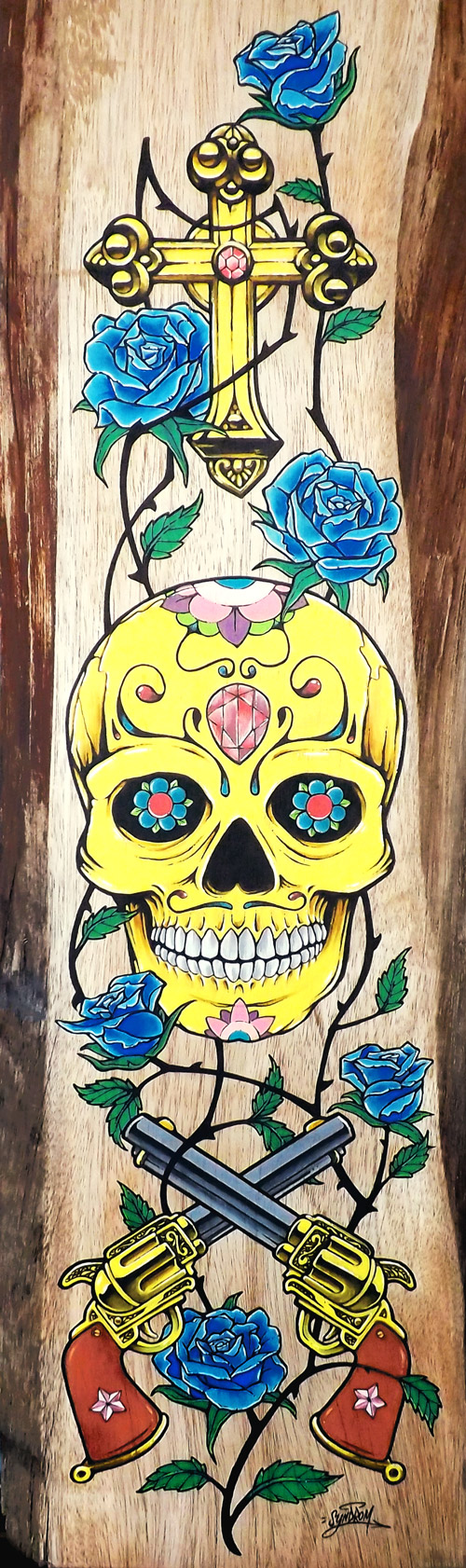 Sugar Skull - Peinture sur bois