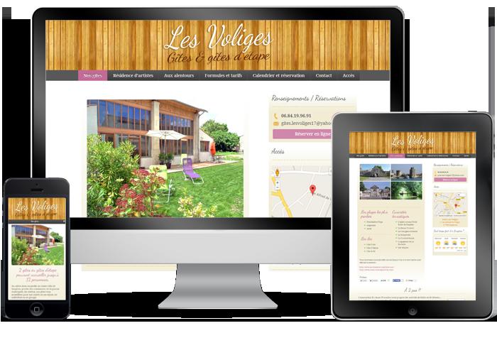 Site web adapté aux tablettes et smartphones
