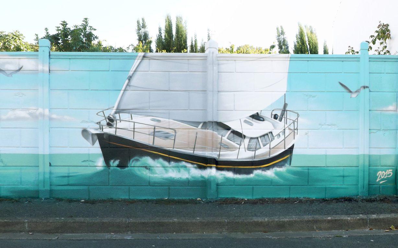 fresque-deco-maritime-voilier-borddemer