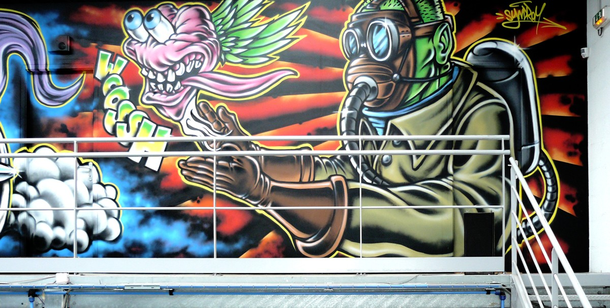 fresque-graffiti-rocknroll-monster