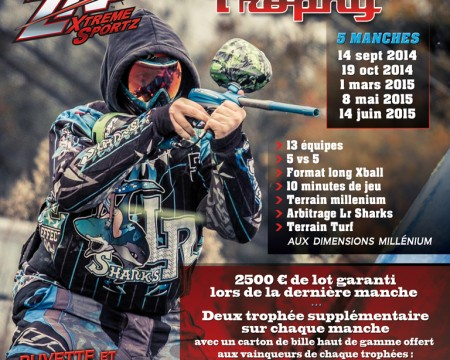 """Affiche """"Paintball Trophy"""""""
