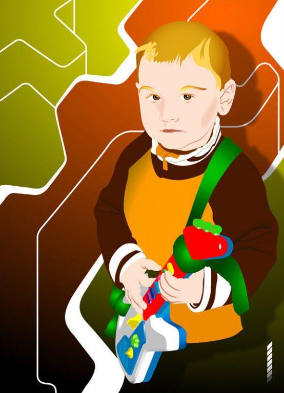 Portrait-illustration-numérique-vectoriel