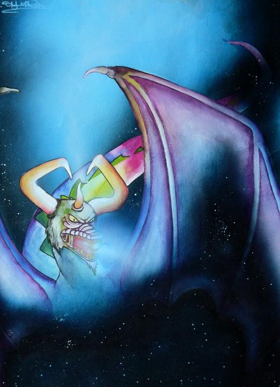 """""""Rainbow Dragon"""" 29,7 x 42 cm"""