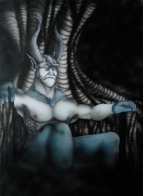 """""""Diablo"""" 29,7 x 42 cm"""