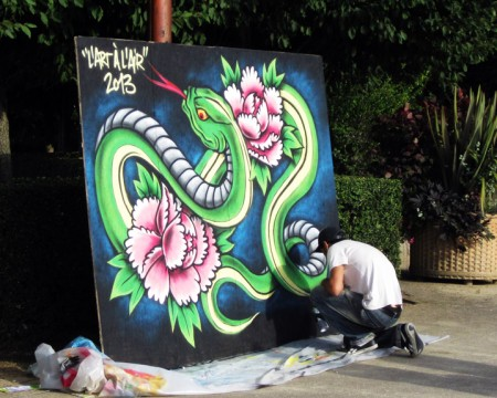 Performance live painting