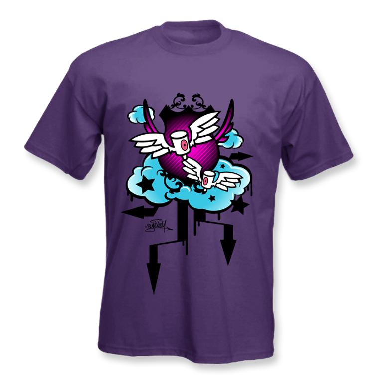 graffiti-angel-caps-tshirt-design