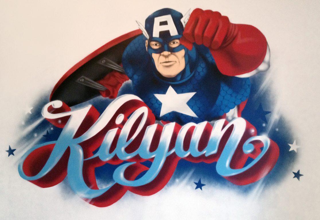 Deco-Graff-Marvel-Avengers-Captain-America-Kilyan-Cursive-Script