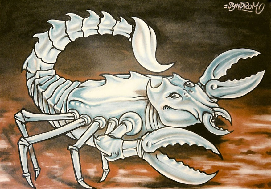 toile-acrylique-scorpion