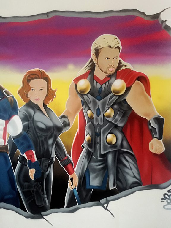deco-graff-blackwidow-thor-theavengers