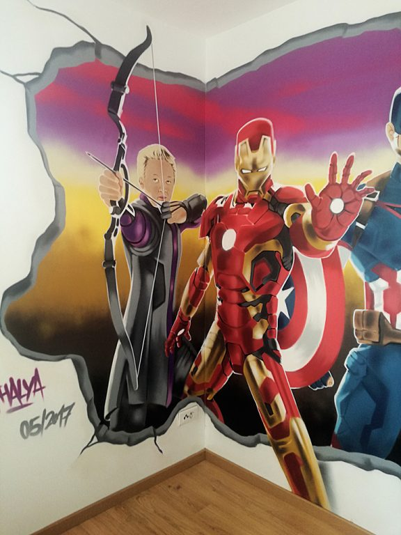 deco-graff-hawkeye-ironman-theavengers