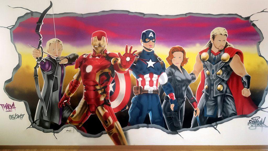 """Décoration """"The Avengers"""" dans la chambre de Thalya"""