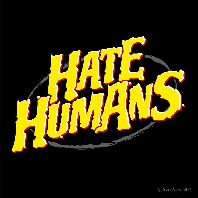 "Logo design de marque ""Hate Humans """