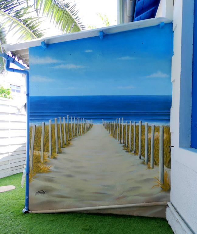 Bord de mer - Passage de dune - Peinture décorative d'extérieur