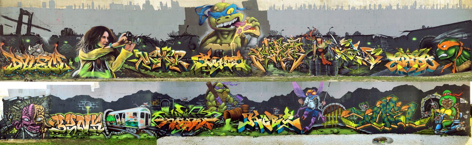 """VEC """"Teenage Mutant Turtles"""" graffiti jam"""