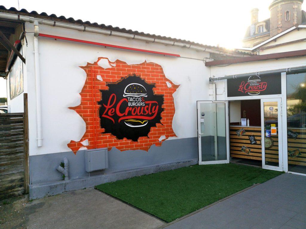 """Deco pour le Fastfood """"Le Crousty"""" à Bassens (33)"""