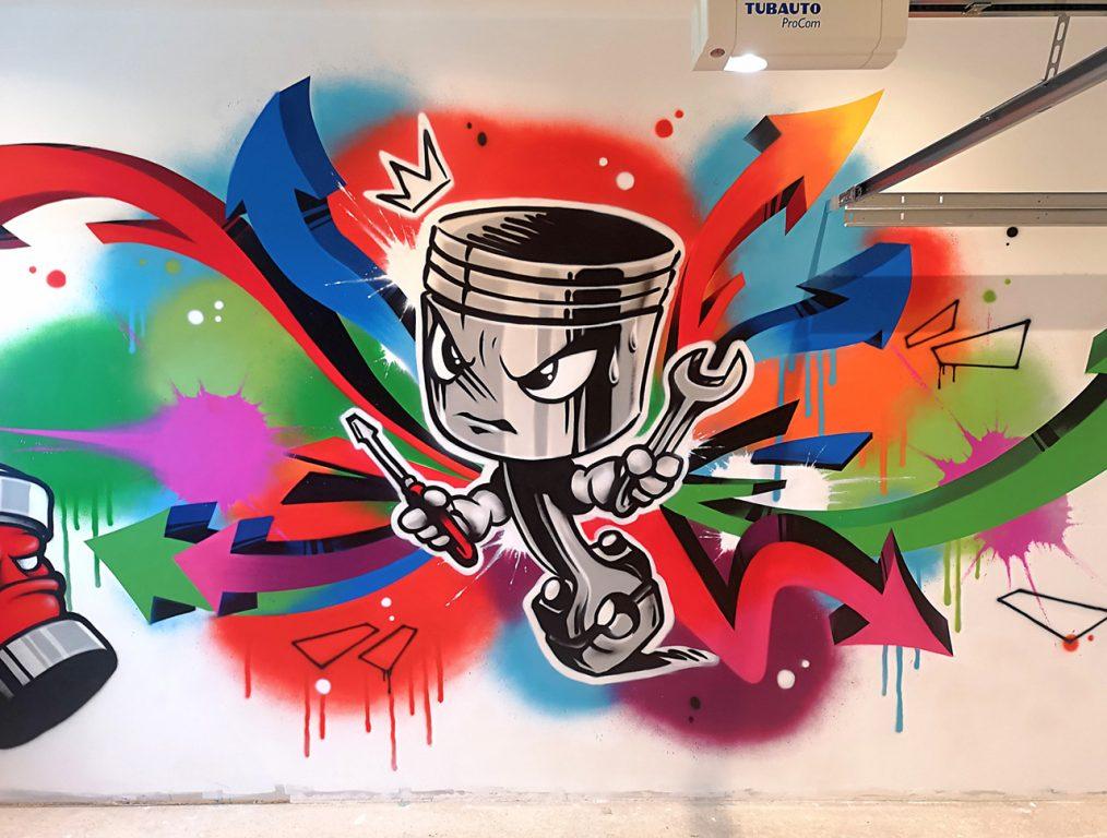 Déco graffiti humoristique