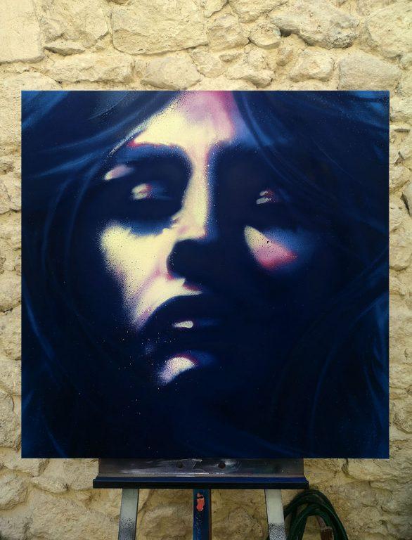 Lady Blue - Peinture sur toile
