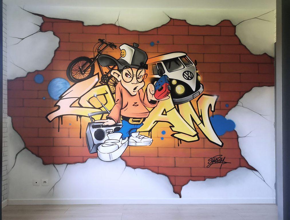 Graff pour la chambre de Loan